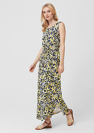 Geweven maxi-jurk met print all-over