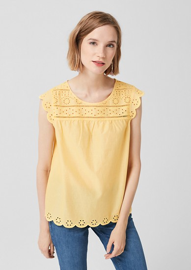 Broderie Anglaise-Bluse