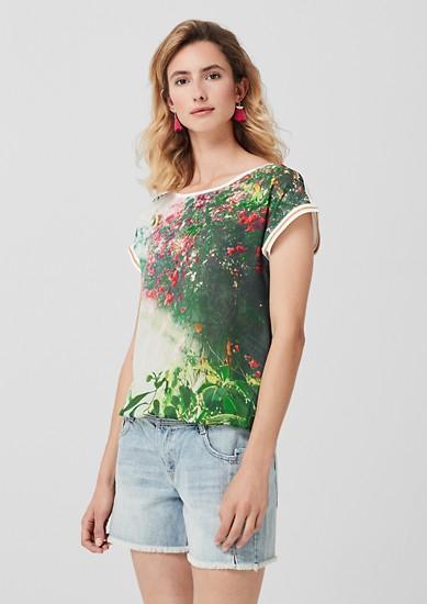 T-shirt blousant à imprimé photo de s.Oliver