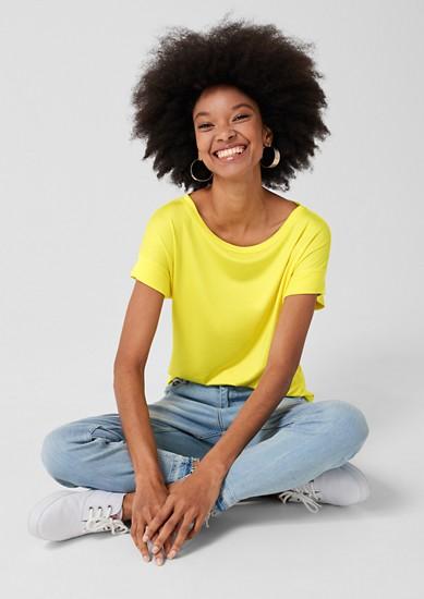 Lässiges Basic-Shirt aus Jersey