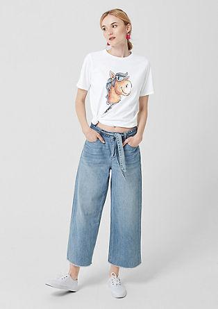T-shirt met een print op de voorkant