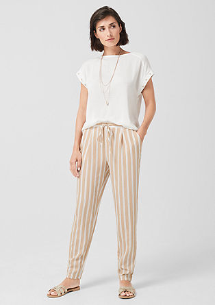 Lightweight striped trousers from s.Oliver