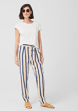 Flowing striped trousers from s.Oliver