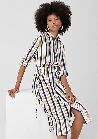 Hemdblusenkleid mit Streifen