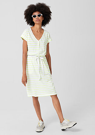 Slub dress with stripes from s.Oliver