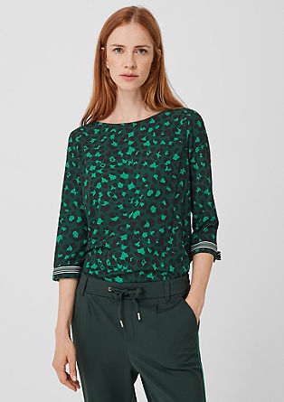 Crêpe blouse with a printed pattern from s.Oliver