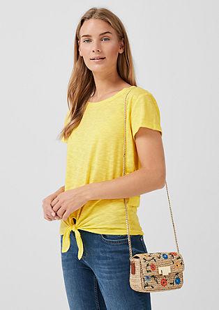 Tričko zžíhané příze, sozdobným uzlíkem