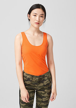 Stretch cotton vest top from s.Oliver