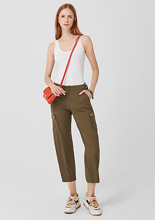 Lyocell trousers in a cargo style from s.Oliver