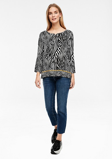 Viscose blouse met print all-over