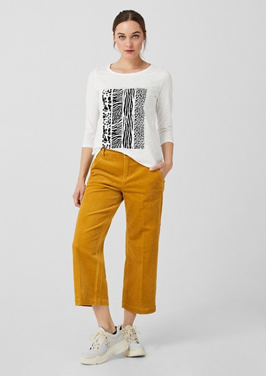 3/4-Arm-Shirt mit Flockprint