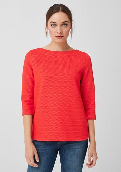 Sweatshirt mit Musterstruktur