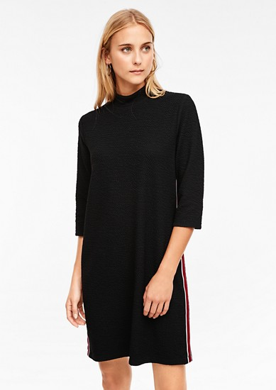 Textured jersey dress from s.Oliver