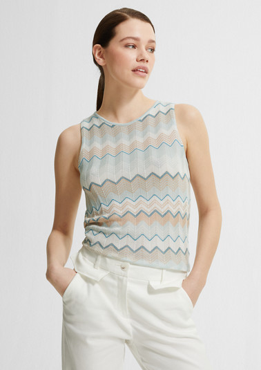 Fine knit top with a pattern from comma
