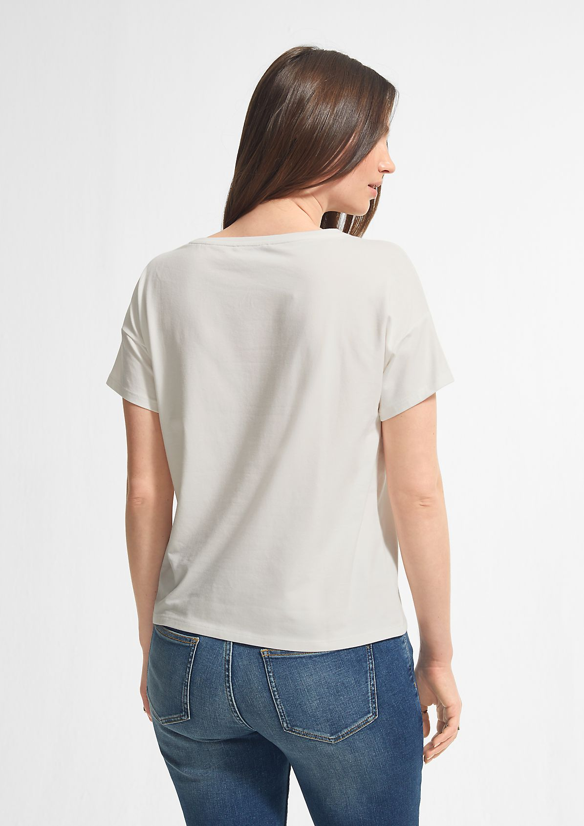 Boxy T-shirt with a graphic print from comma