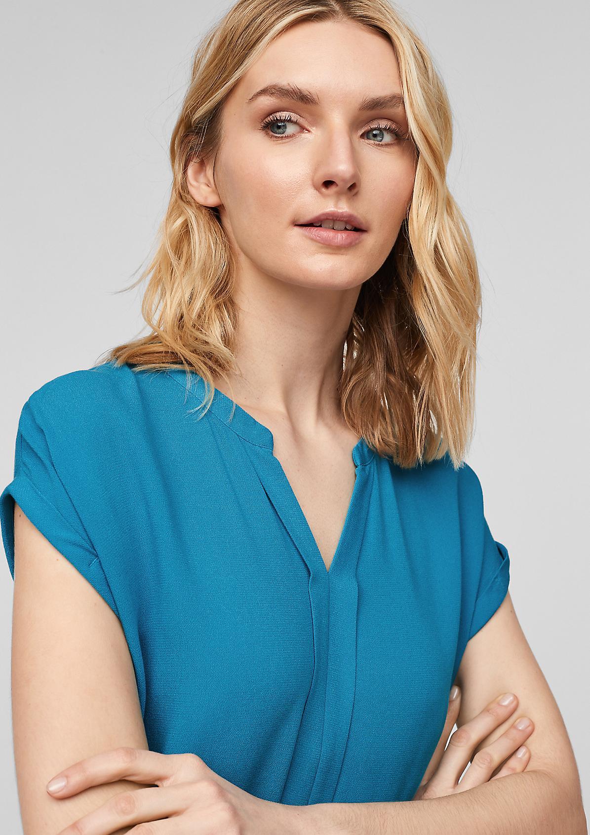 Blusenshirt mit Zier-Blende
