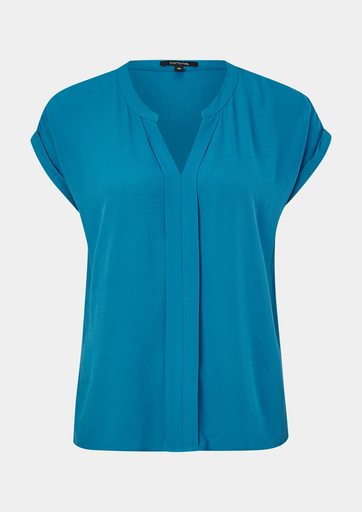 Blouse top with a decorative trim from comma