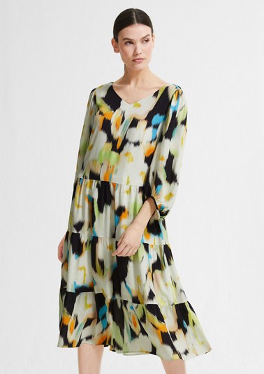 Patterned viscose midi dress from comma