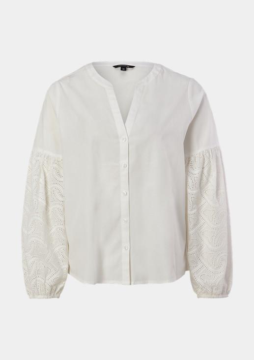 Bluse mit filigraner Lochspitze