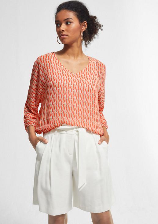 Layer-Bluse mit fixiertem Jersey-Top