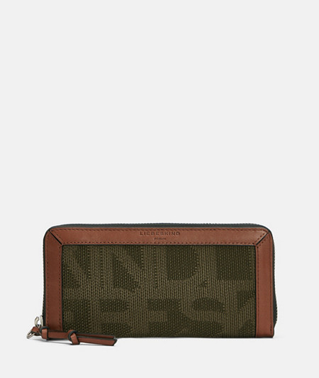 Large material mix purse from liebeskind