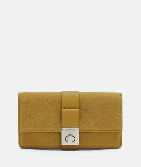 Portemonnaie aus Wildleder und vollnarbigem Glattleder