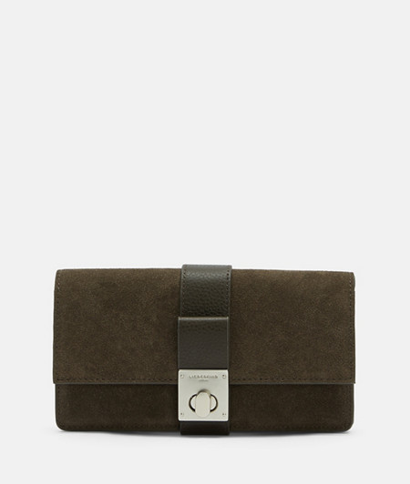 Wallet made of suede and smooth leather with a full grain from liebeskind