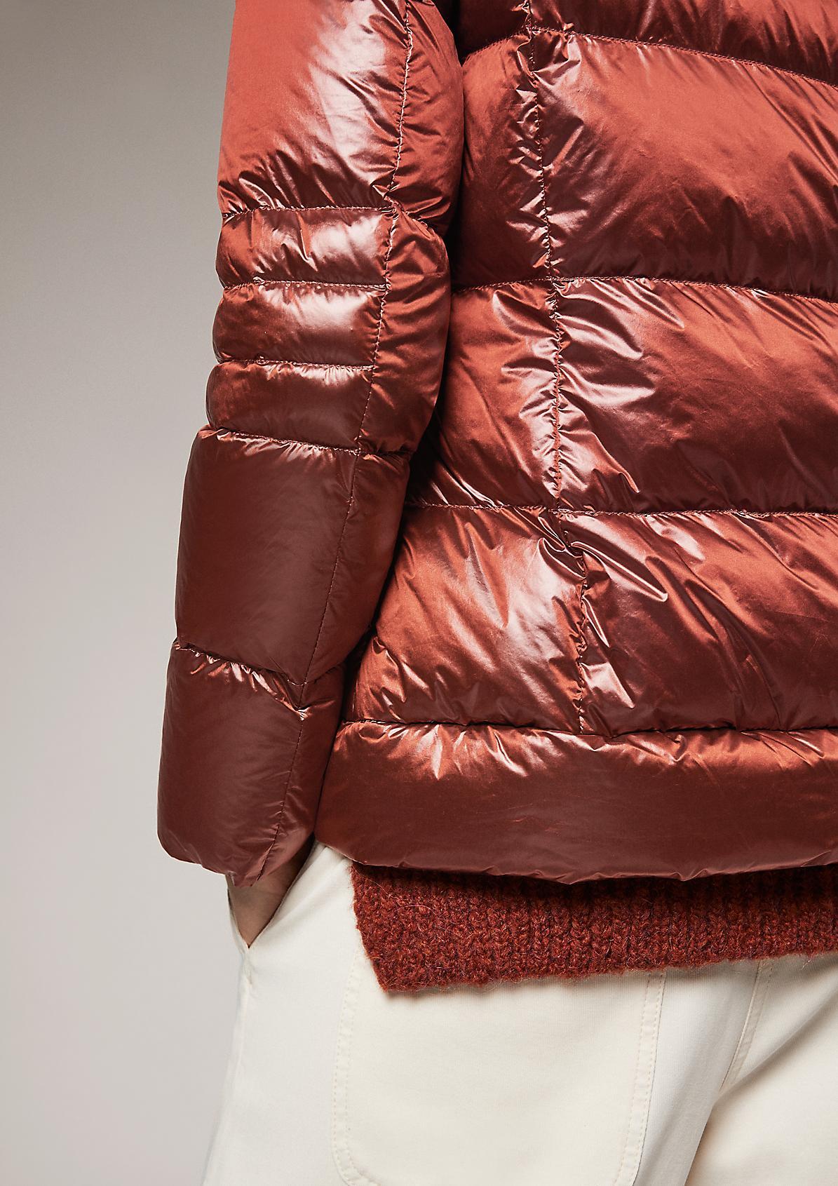 Steppjacke mit abnehmbarem Kunstpelz