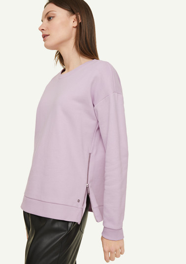 Sweatshirt with a zip detail from comma