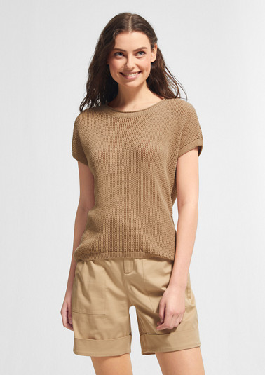 Lightweight jumper made of ribbon yarn from comma