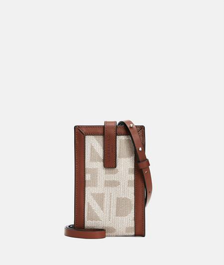 Handy Handtasche zum Umhängen mit Materialmix
