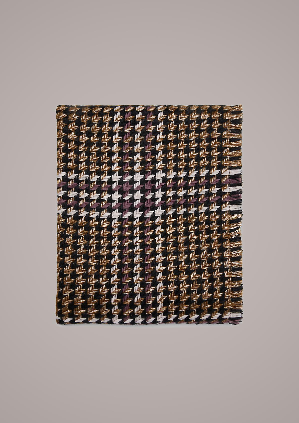 Schal mit Hahnentritt-Muster