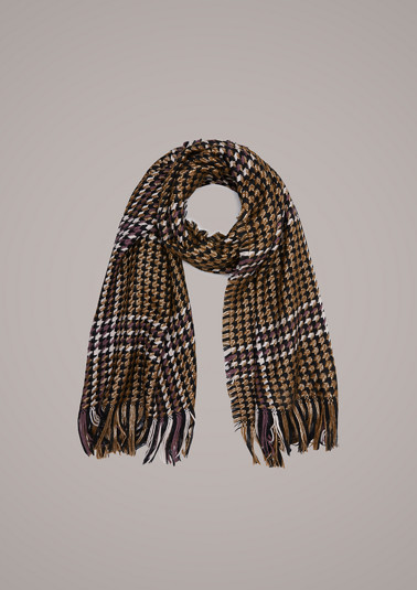 Scarf with a houndstooth pattern from comma