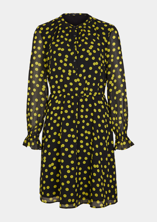 Printed dress with smocked details from comma