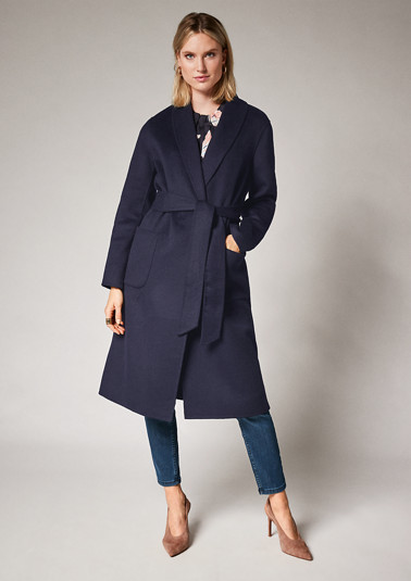 Long coat with a tie-around belt from comma