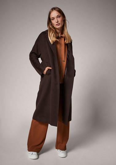 Softer Mantel mit Bindegürtel