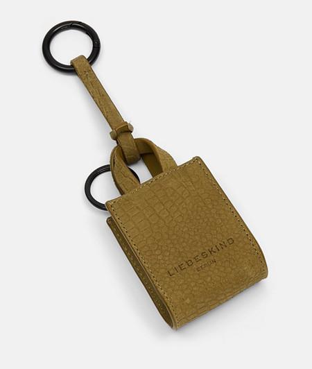 Leder Schlüsselanhänger mit Reptilhautprägung