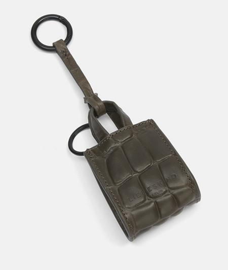 Leder Schlüsselanhänger mit Krokodilprägung
