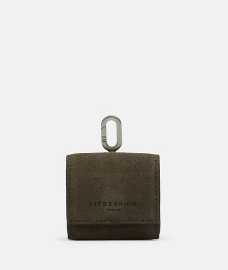 In-ear headphone bag made of leather from liebeskind