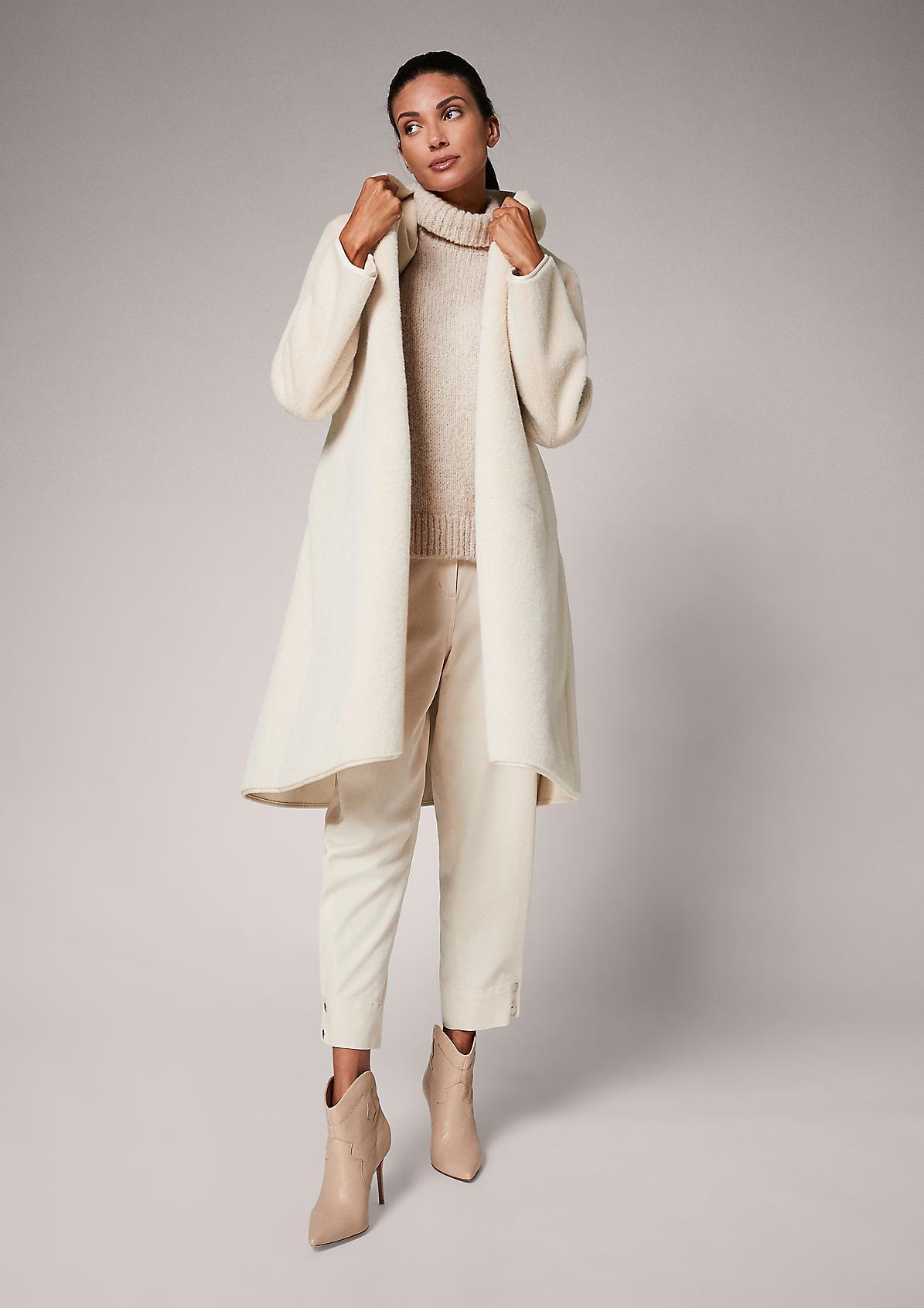 Mantel aus Kunstpelz