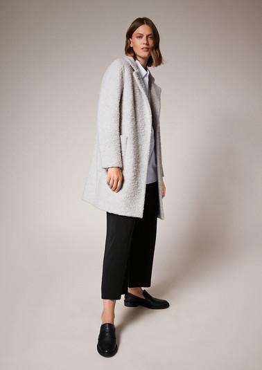 Plush coat from comma