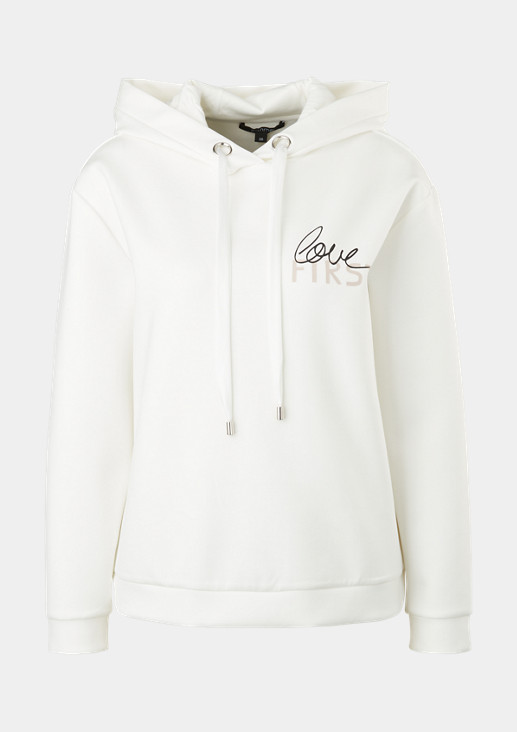 Interlock hoodie with lettering from comma