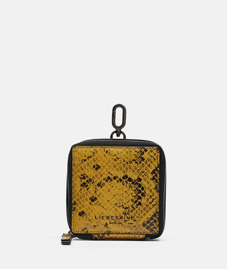 Leather case with snakeskin embossing from liebeskind