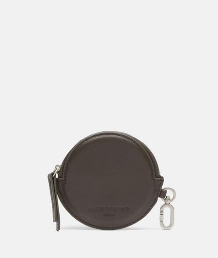 rundes Leder Etui aus Glattleder