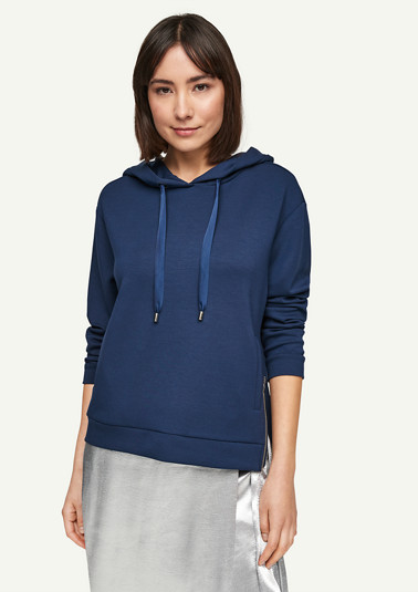 Hoodie with a zip detail from comma