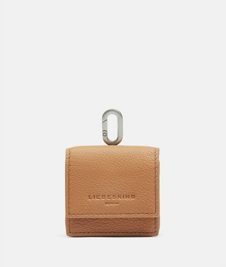 In-ear headphone bag made of smooth leather from liebeskind