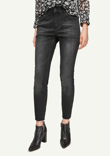 Slim fit: jeans with stud details from comma