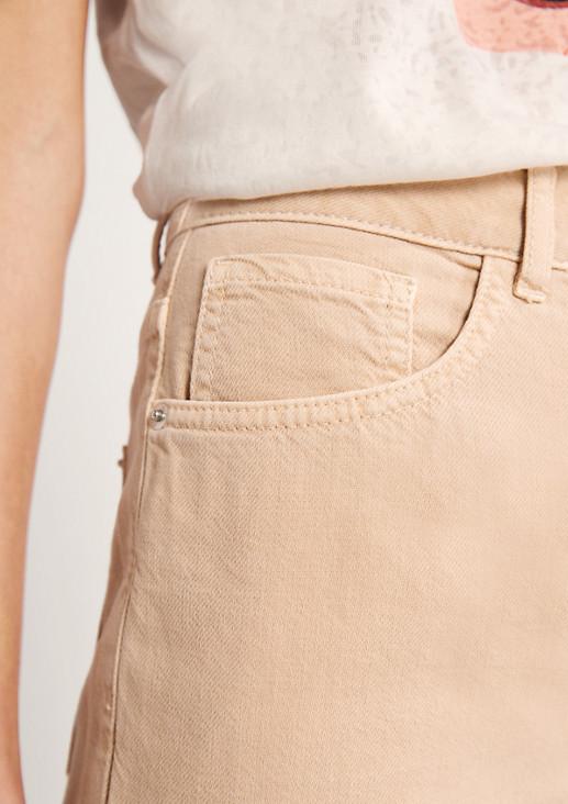 Regular: 7/8-Jeans aus Light Denim