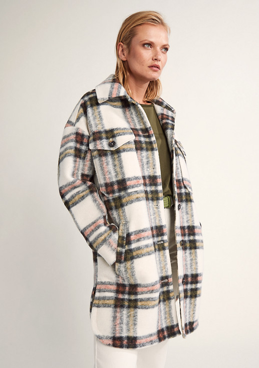 Wool blend lined jacket from comma