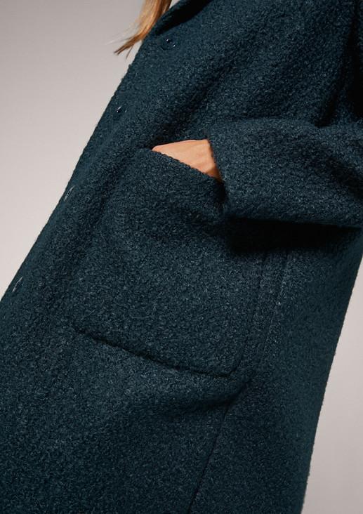 Kuscheliger Mantel aus Bouclé
